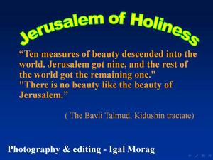 Jrusalem of  holiness