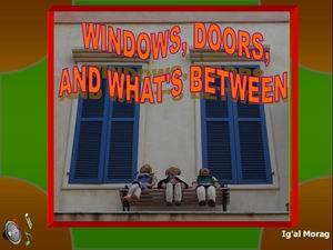 Windows & doors in neve zedek
