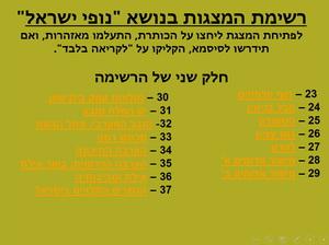 רשימת מצגות - נופי ישראל ב