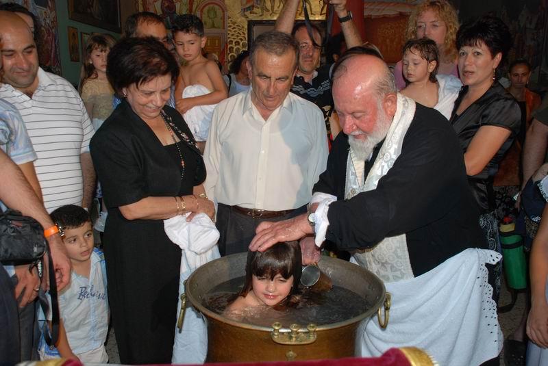 טכס הטבלה בכנסיית התבור