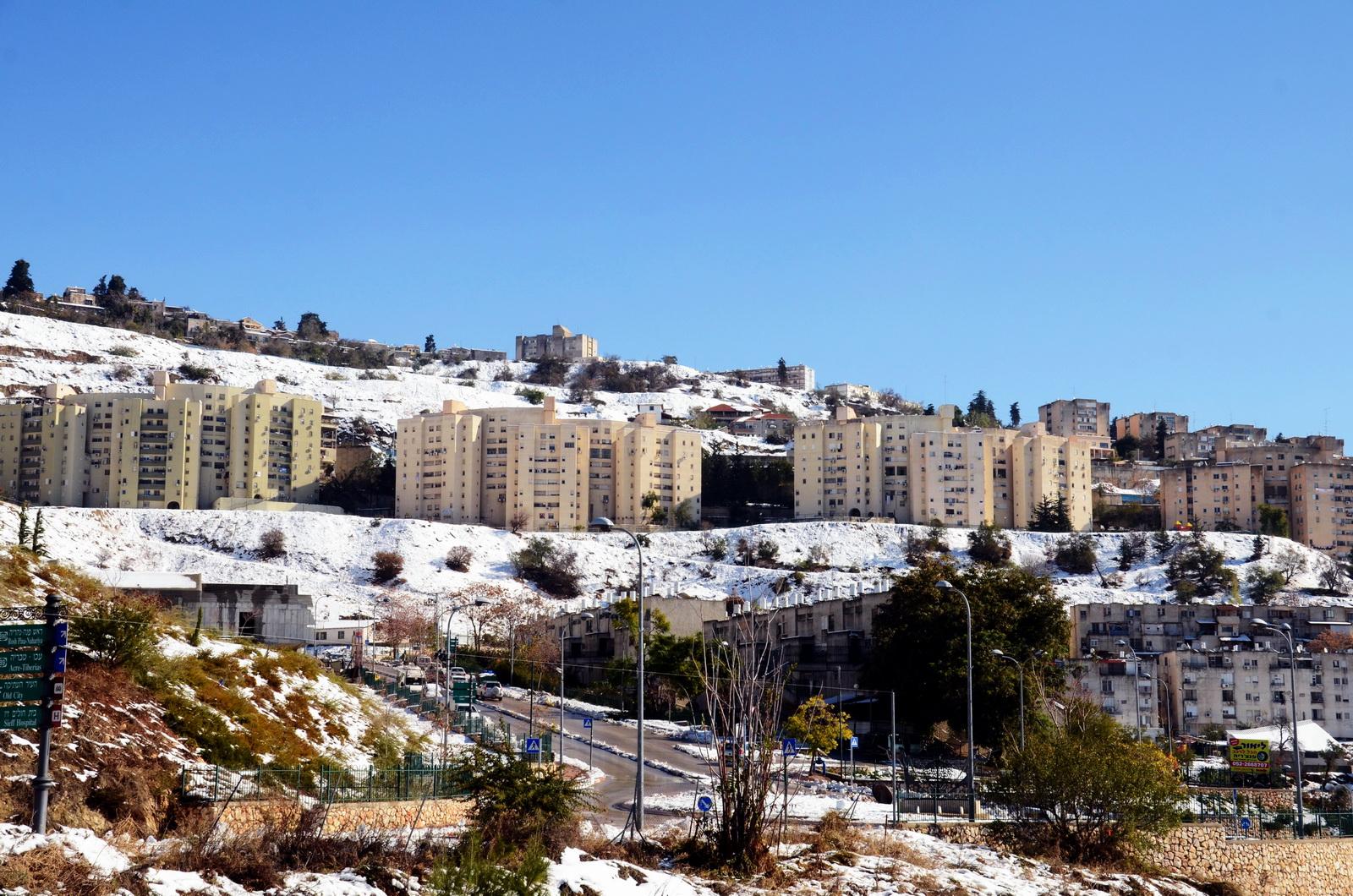 צפת מושלגת - דצמ. 2013