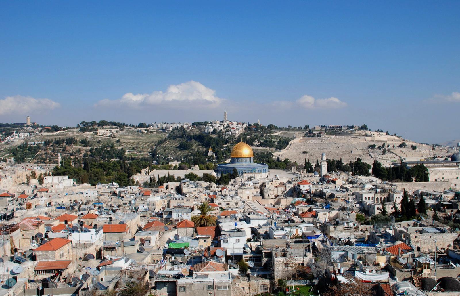 י-ם - העיר העתיקה והר הזיתים