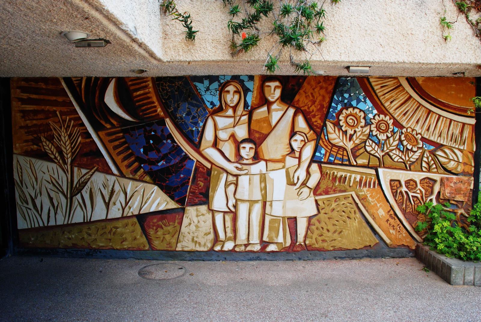 אור הנר - מוראלים - ציור קיר ענקיים