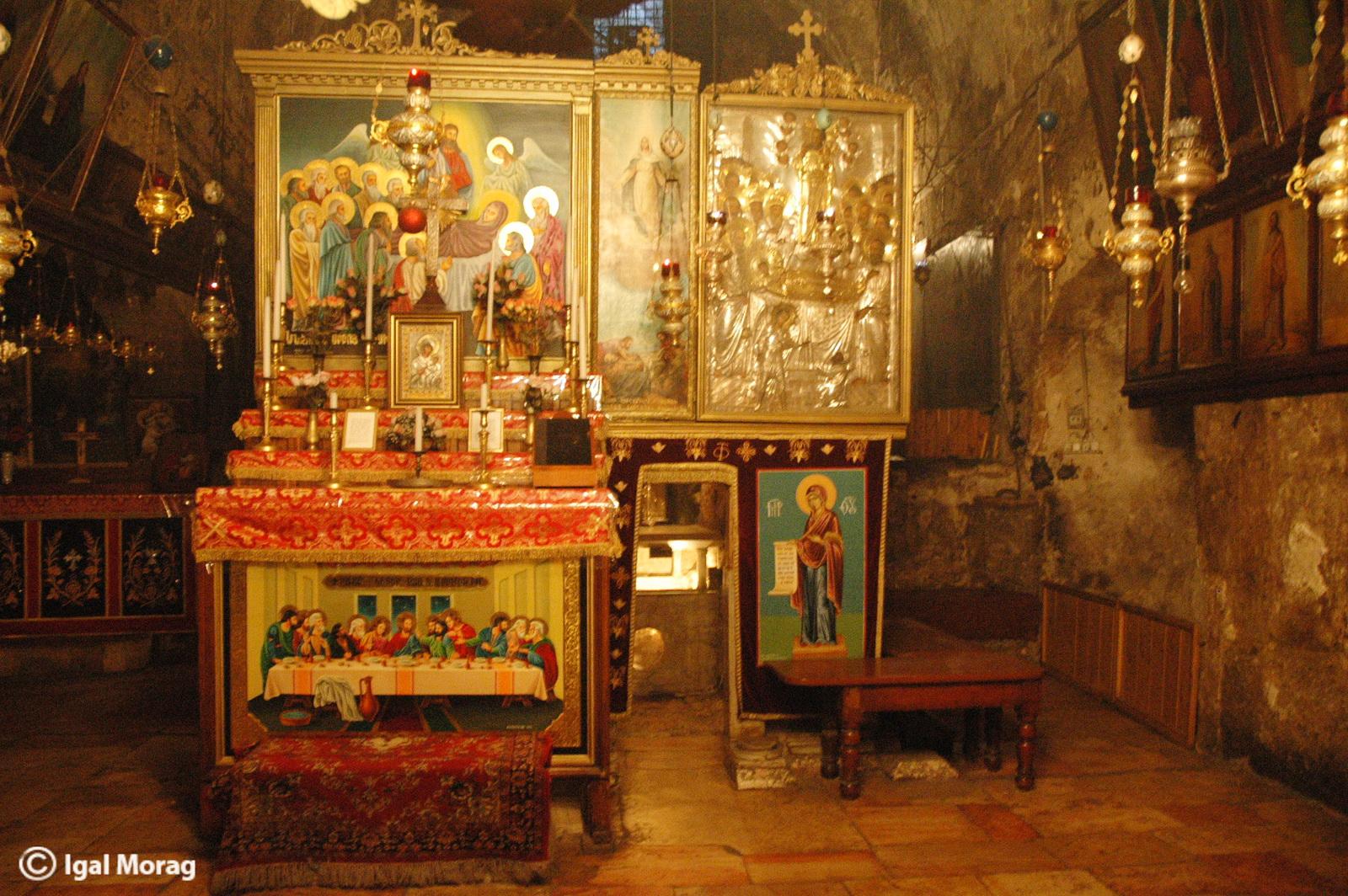 כנסיית גת שמנים - פנים המערה