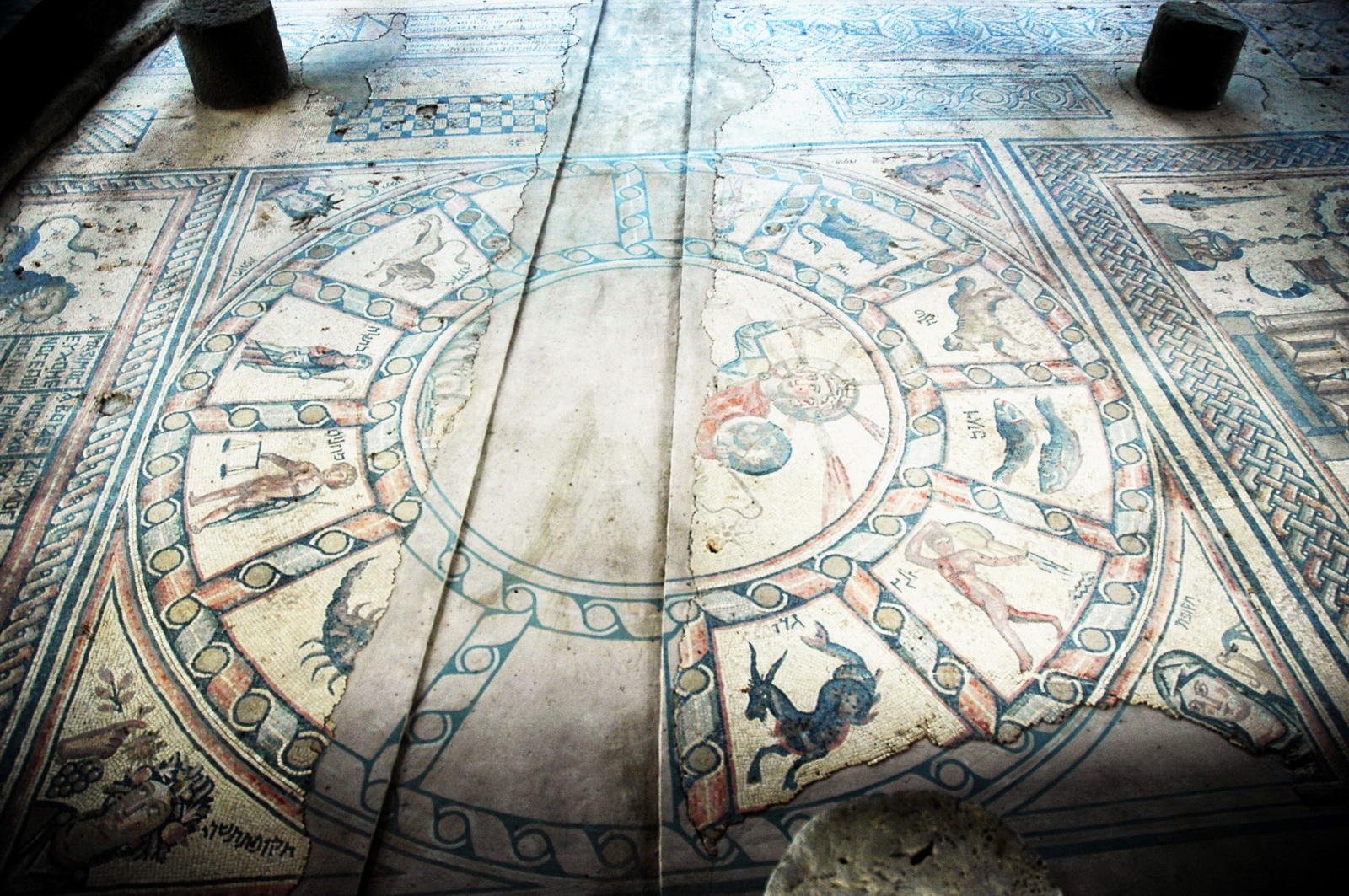 בית הכנסת חמת טבריה - רצפת הפסיפס  כולה