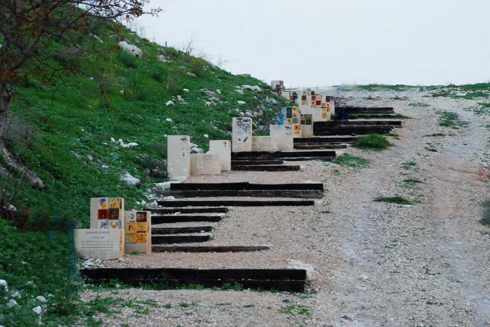 תל יקנעם - המעלה לתל ותצוגת התקופות שנמצאו בו
