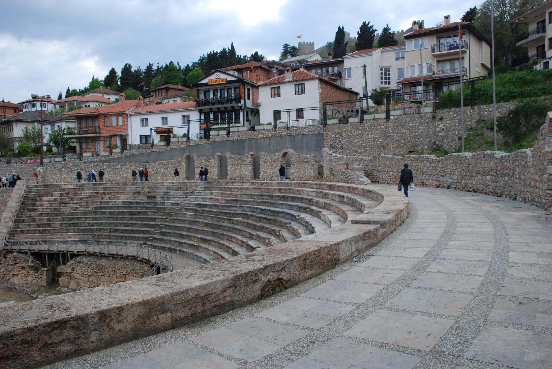 אוחאריד - הכנסייה והתיאטרון