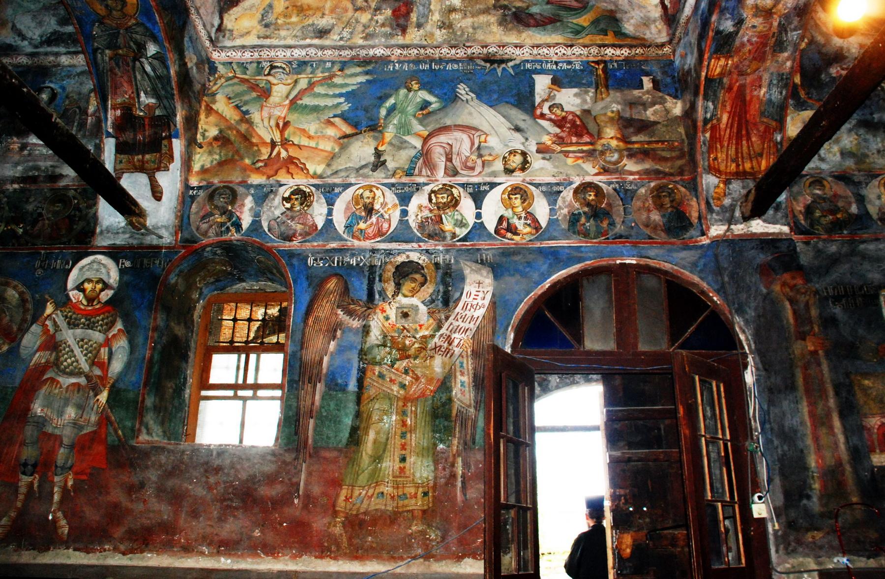 כנסיה ביזנטית בווסקופייה - ציורי קיר
