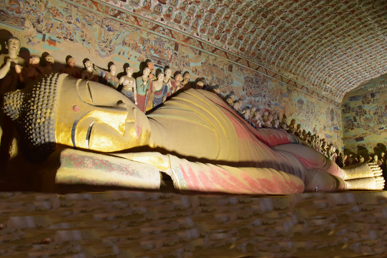 032 - מערות מונגאו - הבודהה השוכב